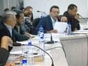 Primeiro secretario discursando a pauta da sessão ordinária. 27/03/2017 - FOTO: Humberto Cellus