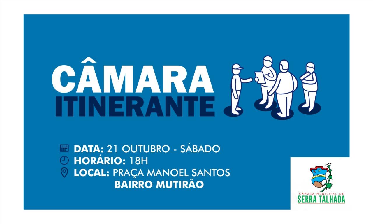 CÂMARA DE SERRA TALHADA RETOMA SESSÕES ITINERANTES